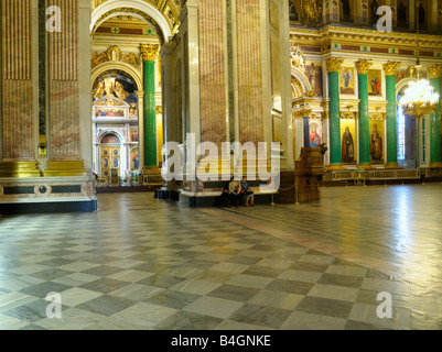 Interior of St. Isaac's Cathedral, St. Petersburg, Russia - Stock Photo