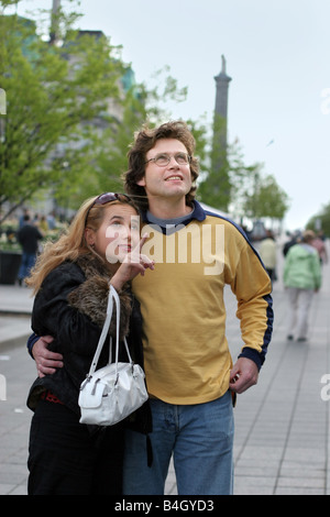 Couple on their honeymoon - Stock Photo