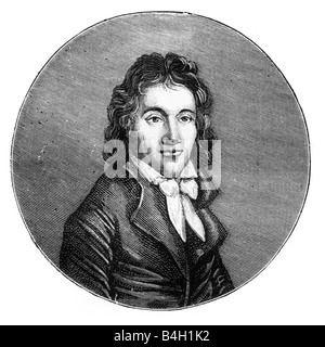 Lucie Simplice Camille Benoist Desmoulins March 2 1760 April 5 1794 French journalist and politician - Stock Photo