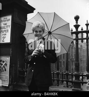 Actress Kim Novak in Manchester June 1956 - Stock Photo