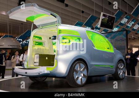 Renault ZE Concept. On show at a Motor Show 2008. The Mondial de l'Automobile. - Stock Photo