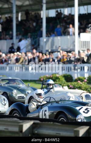 Goodwood Revival: Competitors take their places on the start line. Picture by Jim Holden - Stock Photo