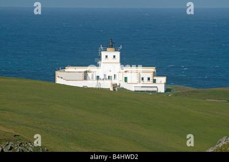 Strathy Point LightHouse Caithness Northern Scottish Coast UK - Stock Photo