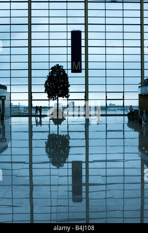 Departures in Terminal 2 Pudong Airport Shanghai China - Stock Photo