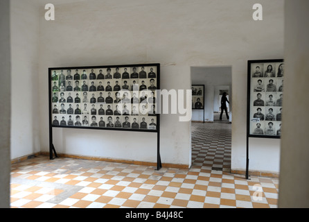 Toulsleng genocide museum dedicated to the people who died under the Pol Pot regime Phnom Penh Cambodia - Stock Photo