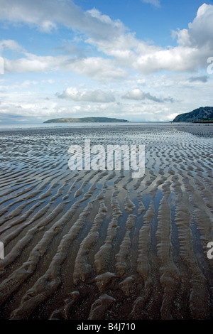 Llandudno seen from the beach at Penmaenmawr in North Wales - Stock Photo