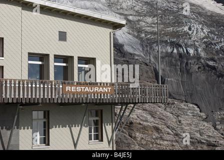 restaurant at Eigergletscher Jungfrau region Switzerland - Stock Photo