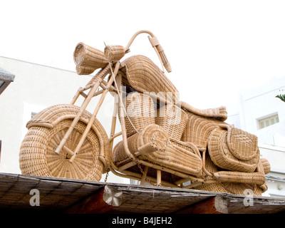 Wicker Harley Davidson Motor Cycle - Stock Photo