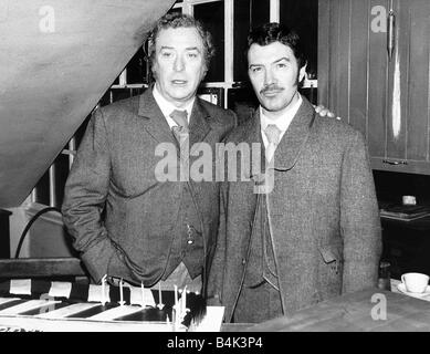 Lewis Collins actor with actor Michael Caine who are to star in Thames TV Jack The Ripper March 1988 Dbase - Stock Photo
