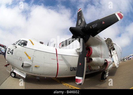 A Grumman C-2 on display at NAS North Island,  Coronado, California, USA - Stock Photo