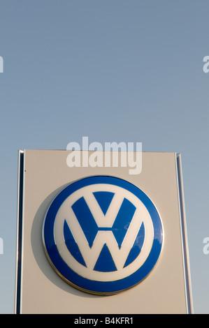 Volkswagen commercial vehicle franchise garage Preston Lancashire England UK - Stock Photo