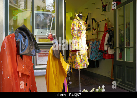 Germany, Berlin, fashion shop 'FREItag Fashion' in the Hackeschen Hoefen - Stock Photo