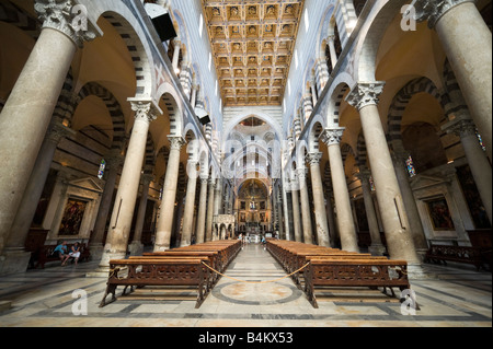Interior of the Duomo, Pisa, Tuscany, Italy - Stock Photo