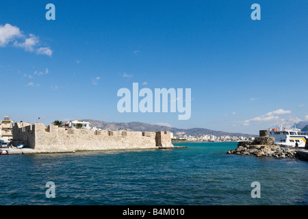 Old Venetian Fortress on the seafront in the town centre, Ierapetra, Crete, Greece - Stock Photo