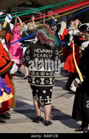 Pearly Kings and Queens Harvest Festival Guildhall London September 28th 2008 - Stock Photo
