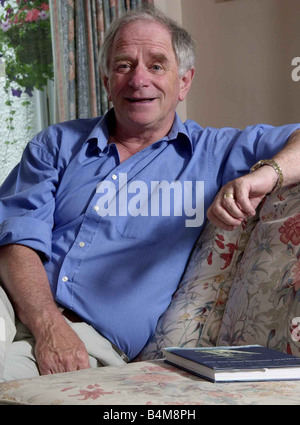 TV presenter Johnny Ball at his home in Buckinghamshire July 2002 - Stock Photo