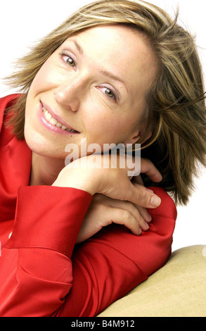 TV presenter Lowri Turner 38 is a former newspaper fashion editor and presenter of Looking Good on BBC2 Television - Stock Photo