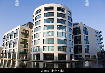 Kings Place, York Way, King's Cross, London. Music, arts and office building beside Regent's canal. - Stock Photo
