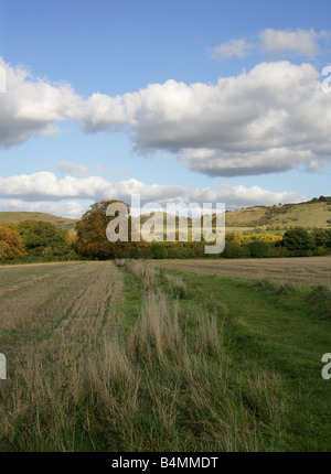 Ivinghoe Beacon and the Chiltern Hills from Pitstone, Buckinghamshire, UK - Stock Photo