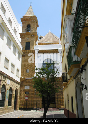 Church of Our Lady of la Palma (Church of Nuestra Señora de la Palma) on Virgen de la Palma, Cadiz, Andalusia, Spain, - Stock Photo