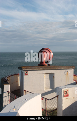 Foghorn at the Mull of Galloway Lighthouse, Dumfries & Galloway. - Stock Photo