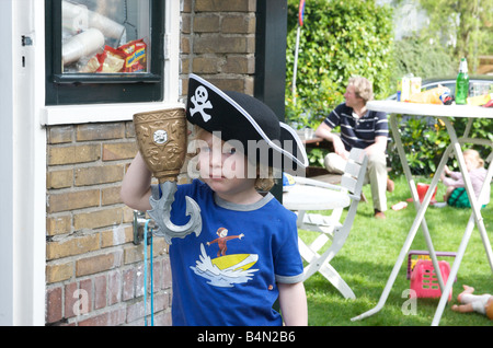 Netherlands birthday party of four year old girl - Stock Photo