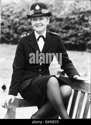 Anna Carteret actress who starred as Inspector Kate Longton in the televisiov programme Juliet Bravo September 1983 - Stock Photo