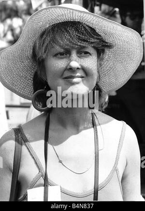 Anna Carteret actress who starred as Inspector Kate Longton in the television programme Juliet Bravo June 1986 - Stock Photo