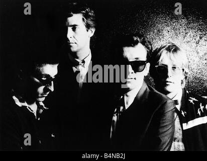 Elvis Costello and The Attractions pop group 1981 - Stock Photo