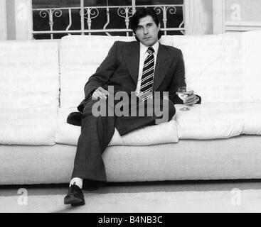 Bryan Ferry pop singer at home 1982 - Stock Photo
