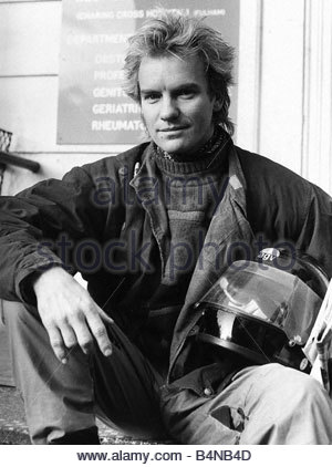 Sting singer with pop group Police aka Gordon Sumner 1984 - Stock Photo