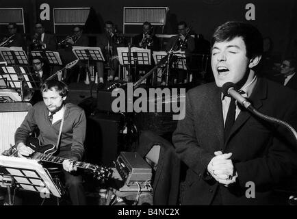 Tony Blackburn DJ Singing live on air - Stock Photo