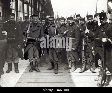 Members of the French Foreign Legion at Ostend in Belguim following the outbreak of the first world war August 1914 - Stock Photo