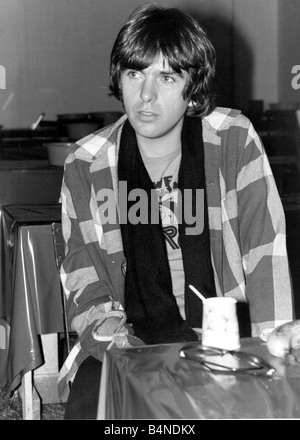Peter Gabriel the rock star and former lead singer of Genesis during his European solo tour September 1977 1970s - Stock Photo