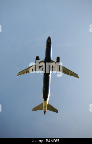 British Airways Airbus A321 231 Airplane coming in to land at heathrow Airport London Britain Uk england - Stock Photo