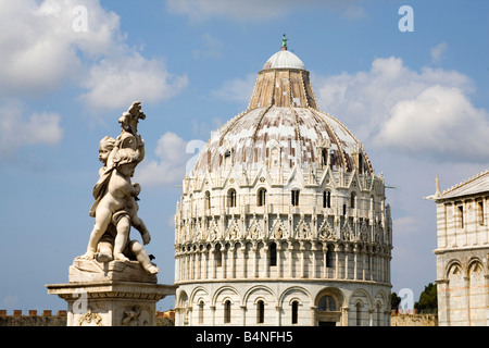 THE BAPTISTRY -PISA - Stock Photo