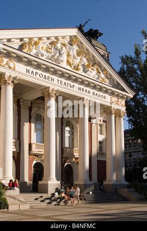 Ivan Vasov National Theatre, Sofia, Bulgaria 2008 - Stock Photo