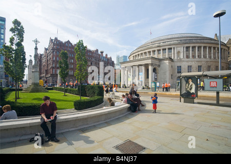 Central Library in St Peters Square Manchester city centre Lancashire England UK United Kingdom GB Great Britain - Stock Photo