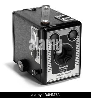 Kodak Brownie box camera - Stock Photo