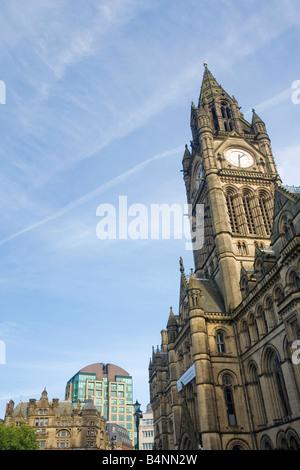 Town Hall in Albert Square Manchester city centre Lancashire England UK United Kingdom GB Great Britain British - Stock Photo