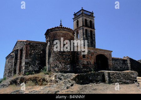 The 10th-century mosque at Almonaster la Real in Andalusia, Spain - Stock Photo