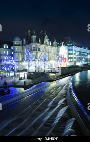 Christmas decorations in Victoria Square Birmingham England UK - Stock Photo
