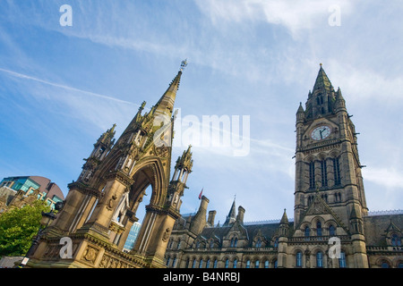 Town Hall in Albert Square Manchester city centre Lancashire England UK United Kingdom GB Great Britain British - Stock Photo