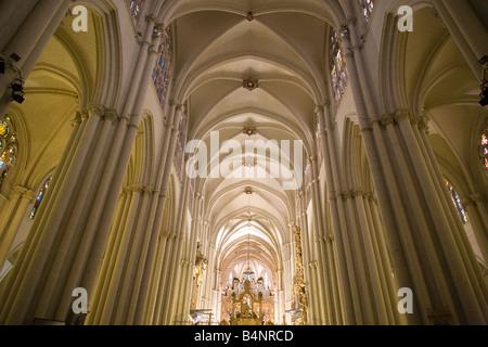 Toledo Cathedral, Spain- interior 2 - Stock Photo