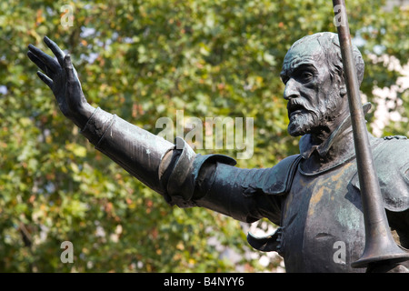 Statue of Don Quixote in Madrid - Stock Photo