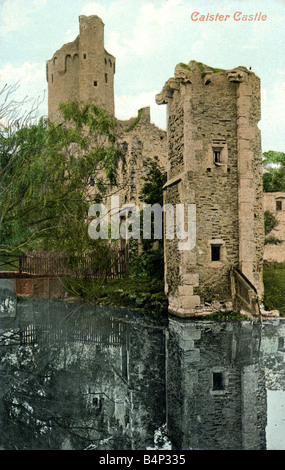 Old vintage British Picture Topographical  Postcard of Caister Castle Norfolk 1900s FOR EDITORIAL USE ONLY - Stock Photo