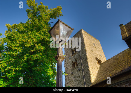 Saxon Tower of St Michael at the North Gate Church, Cornmarket, Oxford, England, UK (landscape version) - Stock Photo