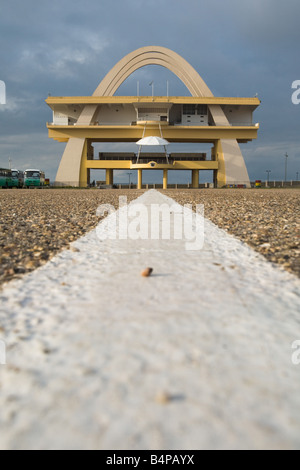 View of Independence square in Accra Ghana - Stock Photo