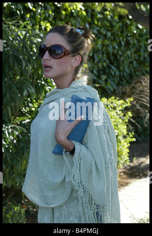Rebecca Loos arrives back at her family home in Madrid for the first time since the David Beckham scandal broke - Stock Photo