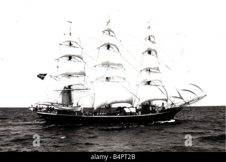 Tall Ships Race 1986 Georg Stage is a three masted full rigged ship measuring 175 feet overall Built in 1935 she - Stock Photo